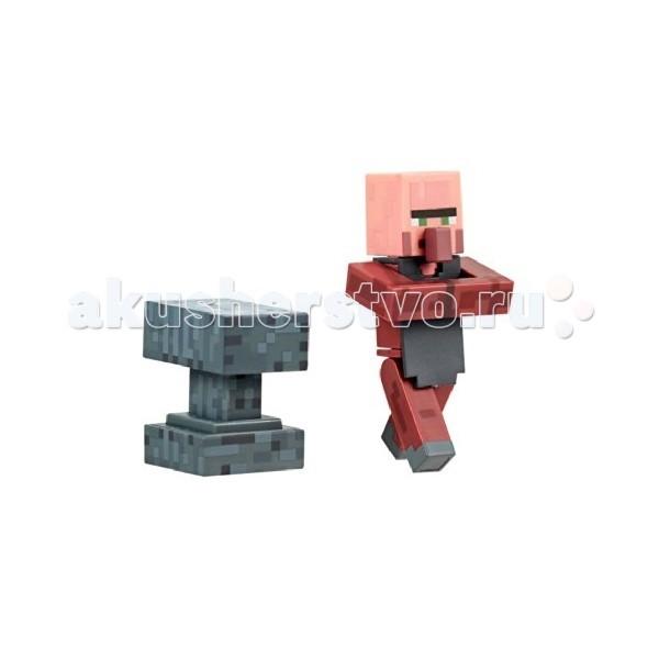 Minecraft Игровой набор Деревенский житель Кузнец 2 предметаИгровой набор Деревенский житель Кузнец 2 предметаMinecraft Игровой набор Деревенский житель Кузнец 2 предмета - точная копия персонажа из культовой игры Minecraft.   Трейт сделан с максимальной степенью детализации, никаких лишних аксессуаров, он точно такой же, как и в игре. Все части тела прикреплены к туловищу с помощью шарниров, поэтому кузнец может ходить, крутить головой и двигать руками, изображая процесс работы. Такая фигурка приведет в восторг любого фаната Minecraft.<br>