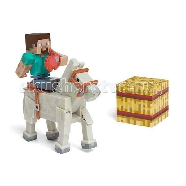 Minecraft Игровой набор Стив с лошадью 4 предмета