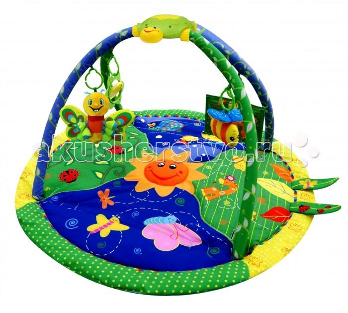 Развивающий коврик BabyHit PM-02 Beautiful GardenPM-02 Beautiful GardenИгровой коврик Babyhit Beautiful Garden (Прекрасный сад) с музыкальной шкатулкой предназначен для детей от рождения до 12 месяцев и помогает интеллектуальному развитию ребенка. Рекомендуется использовать игровые коврики с рождения.  Материалы и краски, используемые при производстве ковриков, экологически чистые. Подвесные игрушки, игровое поле и музыкальная шкатулка привлекают интерес ребенка и способствуют развитию зрения, слуха, тактильных ощущений. В процессе эксплуатации игровых ковриков ребенок учится хватать и держать предметы, ползать, играть в игры. Дизайн игровых ковриков, разнообразие предлагаемых игр, игрушек и развлечений, таких как музыкальная шкатулка, пчелка-пищалка, бабочка, шуршащие листики, вращающиеся зеркало-цветочек и фоторамка позволяют ребенку гармонично развиваться. Игровой коврик можно располагать на полу, на кровати, на лужайке. Коврик легко переносить и он не требует специального ухода.   Размер коврика: 94 х 94 х 48 cм<br>