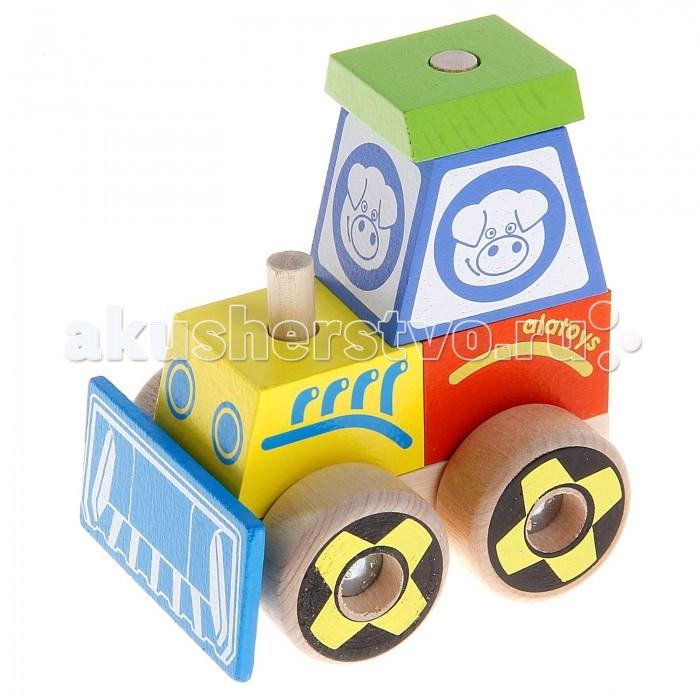 Каталка-игрушка Alatoys Конструктор-каталка Трактор большой