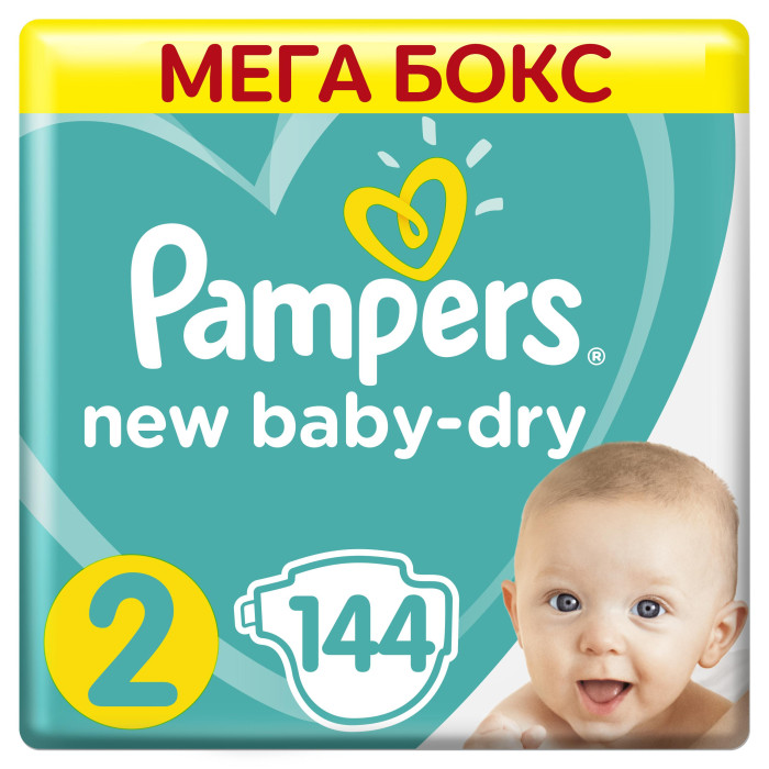Pampers ���������� New Baby-Dry Mini �.2 (3-6 ��) 144 ��.