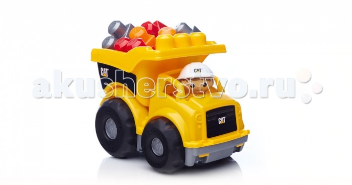 Mega Bloks Mattel Cat Маленький самосвалMattel Cat Маленький самосвалБерегись! Маленький самосвал CAT от Mega Bloks оставляет гравий на стройплощадке. Крепкие колеса и способность к выгрузке этого ярко-желтого грузовика порадуют вас долгое время. Маленький самосвал от Mega Bloks отлично подходит для маленьких строителей с великими идеями.  Идеально подходит для детей в возрасте от 1 года до 5 лет.  Описание: Реалистичный самосвал CAT, который работает, как настоящий В набор входят одна фигурка рабочего и шесть блоков Объединяйте вместе другие машины CAT от Mega Bloks для большего веселья!<br>
