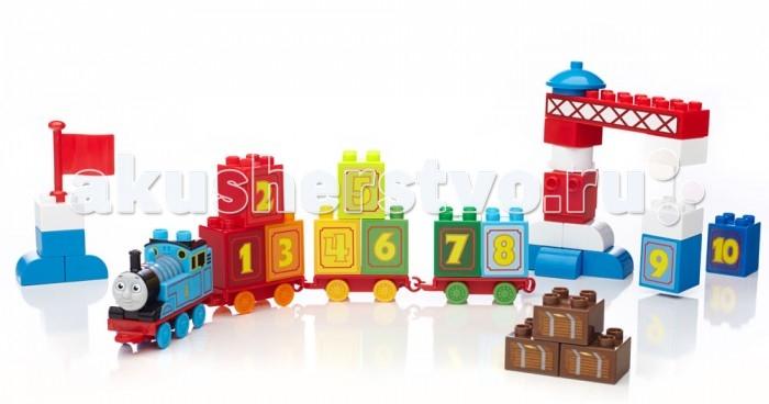 Mega Bloks Mattel Обучающий паровозик Томас (35 деталей)