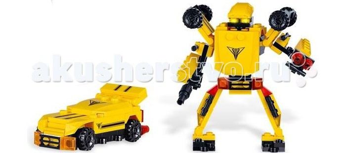 Конструктор Zhorya Робот-машина (84 деталей)