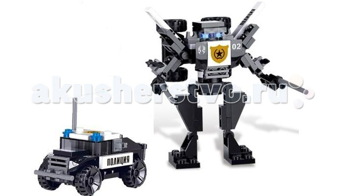 Конструктор Zhorya Робот-машина (79 деталей)