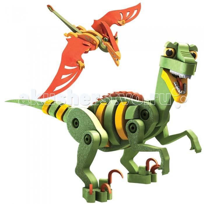 Конструктор Bloco Динозавры Велоцераптор и ПтерозаврДинозавры Велоцераптор и ПтерозаврКонструктор Bloco 30131 Динозавры: Велоцераптор и Птерозавр.  С помощью этого набора, ребенок сможет познакомиться с одними из самых древних обитателей нашей планеты. Они смогут стать отличной командой, решая все возникшие вообразимые трудности в игре, с земли и с воздуха. Верные друзья и надежные защитники любого юного искателя приключений. Они перенесут малыша во времена, в которые можно попасть только в детстве. Благодаря подвижной конструкции игра будет очень активной, увлекательной и полезной.  Из 166 деталей конструктора можно собрать двух представителей динозавров - Велоцераптор и Птерозавр. Детали набора имеют окраску красных, зеленых и желтых цветов. Изготовлены элементы набора из экологически чистого безвредного и нетоксичного полимера, который представляет собой плотную застывшую пену. Детали максимально безопасны для игрового процесса и удобны в конструировании. Идеальное сочетание деталей сета с элементами других наборов конструкторов Bloco, позволит собирать грандиозные модели. Играть с пользой бывает очень интересно – доказано Bloco.  Материал: пенопласт, высококачественный пластик Упаковка: картонная коробка.<br>