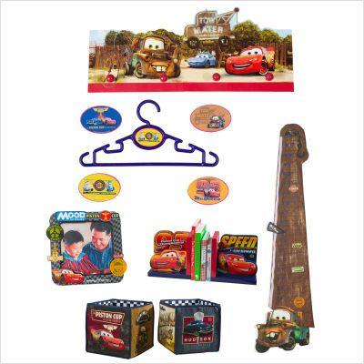 Аксессуары для детской комнаты Disney Набор декора Тачки 10 предметов