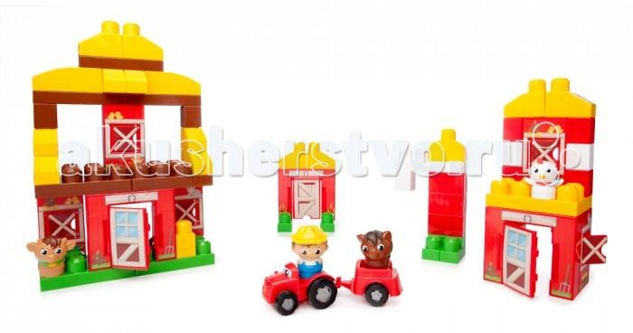 Конструктор Mega Bloks Mattel First Builders Веселая ферма (70 деталей)
