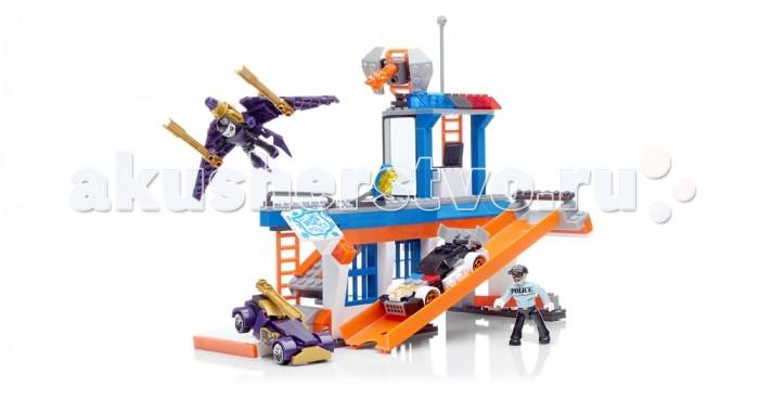 Конструктор Mega Bloks Mattel Hot Wheels Полицейская станция (267 деталей)