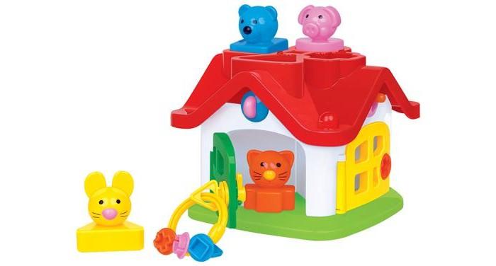 Сортер Полесье Логический теремокЛогический теремокСортер Полесье Логический теремок - это красивый многофункциональный сортер в виде домика с различными обитателями, которые расположены на вставных вкладышах.   Особенности: Во время игры можно закрывать и открывать дверцы на ключики, проталкивать животных в домик через трубы, подбирать части игрушки по цвету и форме.  Этот замечательный сортер в игровой форме научит малыша различать форму и цвет, поможет улучшить моторику и координацию движений. Изготовлен из высококачественных материалов.<br>