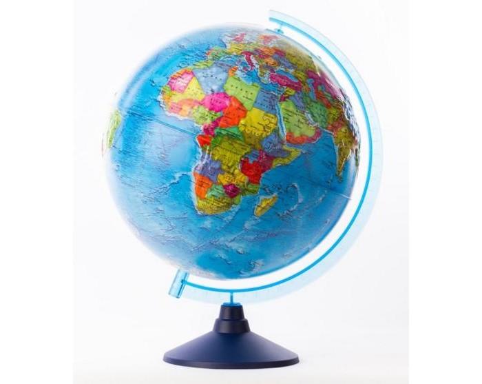 Globen Глобус Земли политический рельефный 320 серия ЕвроГлобус Земли политический рельефный 320 серия ЕвроGloben Глобус Земли политический рельефный 320 серия Евро.  Политический глобус Земли Globen Классик показывает, как мир разделен на различные государства. На глобусе указаны столицы всех стран и крупные города, обозначены реки и большие озера, а также отмечены железнодорожные и морские пути.  Поверхность глобуса обладает рельефным слоем, повторяющим рельеф планеты. Надписи на глобусе выполнены легко читаемым шрифтом и переведены на русский язык. Изучая глобус ребенок познакомится с устройством мира и расширит свой кругозор. Язык: русский. Подставка: разборная. Диаметр глобуса: 32 см. Высота с подставкой: 44 см.<br>