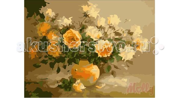 Раскраска Molly Картина по номерам Аромат цветов 40х50 см