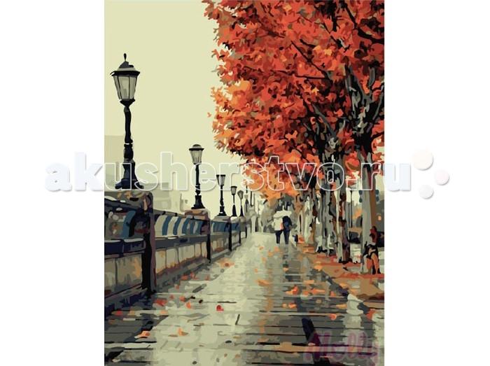 Раскраска Molly Картина по номерам Осення набережная 40х50 см