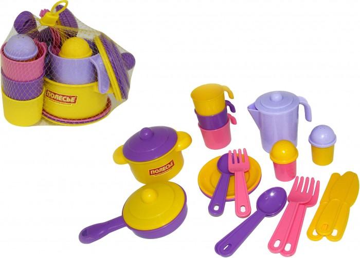 Полесье Набор детской посуды Настенька на 3 персоныНабор детской посуды Настенька на 3 персоныПолесье Набор детской посуды Настенька на 3 персоны, обязательно понравится вашему малышу и займет его внимание надолго.  Особенности: С набором детской посудки Ваша малышка может устроить настоящий званный ужин для своих любимых кукол.  В наборе маленькая хозяюшка найдет все необходимое для приготовления еды. Все предметы посудки выполнены из пластика и рассчитаны на 3 персоны.  Игра с набором посудки Полесье будет доставлять одно удовольствие.   В комплекте: кастрюля сковородка солонка перечница кувшин 3 чашки 3 ложки  3 вилки 3 ножа<br>