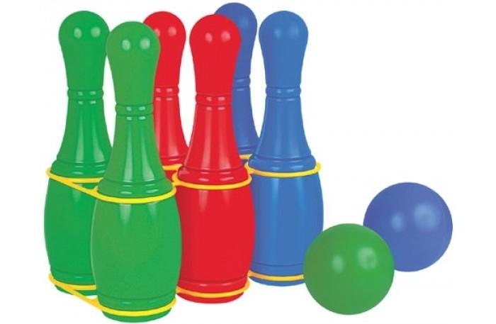 Полесье Кегли 6 шт.Кегли 6 шт.Полесье Кегли станут отличной игрушкой для любого активного, подвижного ребёнка.   Особенности: Кегли идеально подходят для игр не только в доме, но и на улице. Играть малыш сможет как один, так и с родными или друзьями.  Цель игры заключается в сбивании кегля шариком. Кегли распределяются в определённом порядке.  Кегли представлены в трёх цветах – зелёном, красном и синем цвете (две кегли на один цвет).  Кегли имеют удобную подставку, поэтому после игры не будут валяться по всему дому. Также их несложно хранить. Играя, ребёнок сможет развить мелкую моторику пальцев, координацию движения рук, внимательность, ловкость и меткость.  Игрушка выполнена из прочного и безопасного пластика.  В комплекте: 2 шара; 6 кеглей; подставка для удобного хранения и переноски.<br>