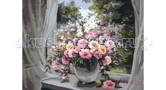 Раскраска Molly Картина по номерам Утреннее вдохновение 40х50 см