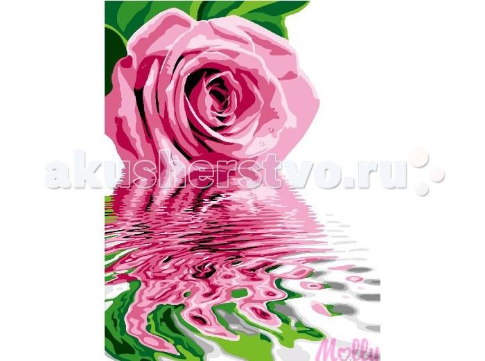 Molly Картина по номерам Розовое отражение 40х50 смКартина по номерам Розовое отражение 40х50 смКартина по номерам Molly Розовое отражение - это интеллектуальное рисование. Просто взяв в руки краски и, следуя нумерации на фрагментах картинки, вы создаете оригинальный рисунок.  Раскраска по номерам учит штриховать рисунки в заданных областях и раскрашивать их, не заходя за контур, концентрироваться на отдельных предметах, планировать свою деятельность.  Состав набора: холст из натурального хлопка на деревянном подрамнике (холст предварительно прогрунтован) нейлоновые кисти разного размера 3 шт. акриловые краски (устойчивые к выцветанию) крепление на стену акриловый лак (2 баночки). Размер: 40х50 см.<br>