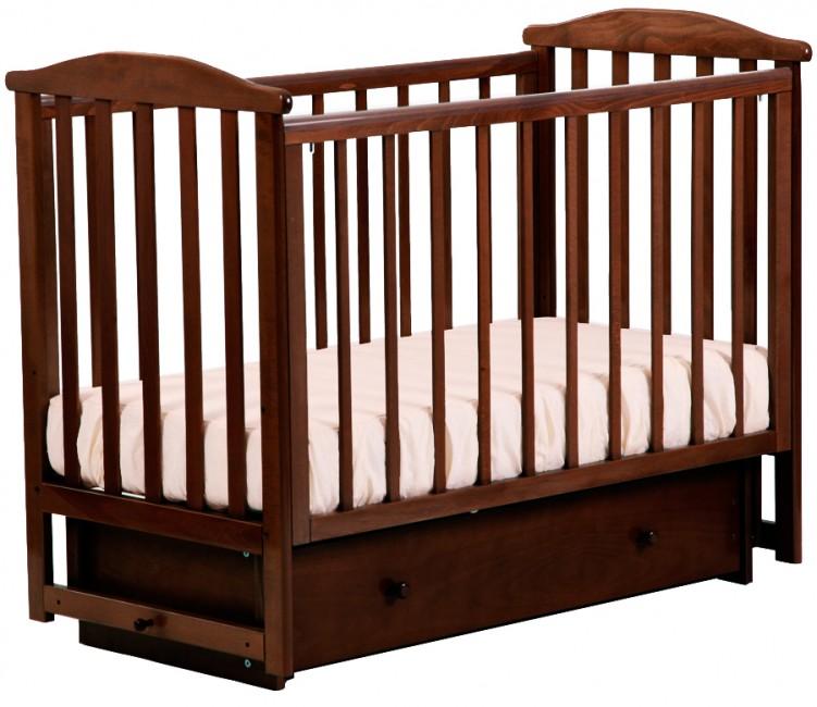 Детская кроватка Кубаньлесстрой АБ 15.2 Лютик маятник поперечный с ящиком