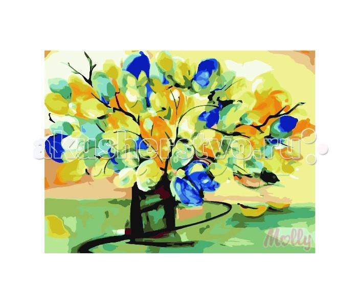 Раскраска Molly Картина по номерам Букет из листьев 40х50 см