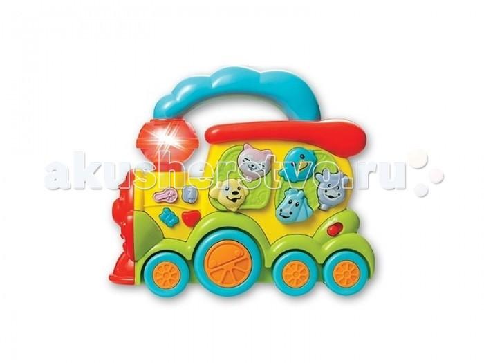 Музыкальная игрушка Zhorya Умный Я ПаровозУмный Я ПаровозМузыкальная игрушка Zhorya Zhorya Умный Я Паровоз станет незаменимой и любимой игрушкой для Вашего малыша.   Она выполнена из высококачественного пластика и не имеет острых углов. Паровоз оснащен звуковыми и световыми эффектами.   Использовать игрушку можно как дома, так и на улице.<br>