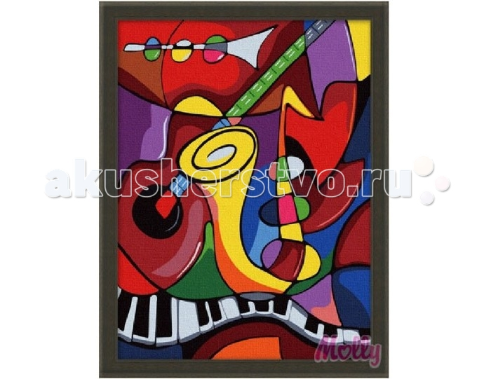 Раскраска Molly Картина по номерам Мир музыки 30х40 см