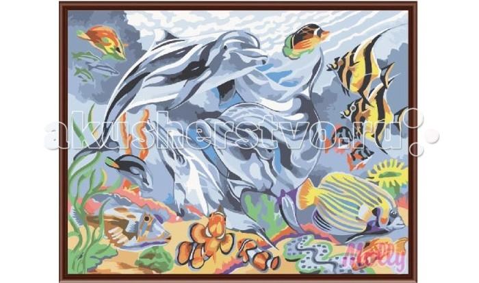 Раскраска Molly Картина по номерам Тайны океанов 30х40 см