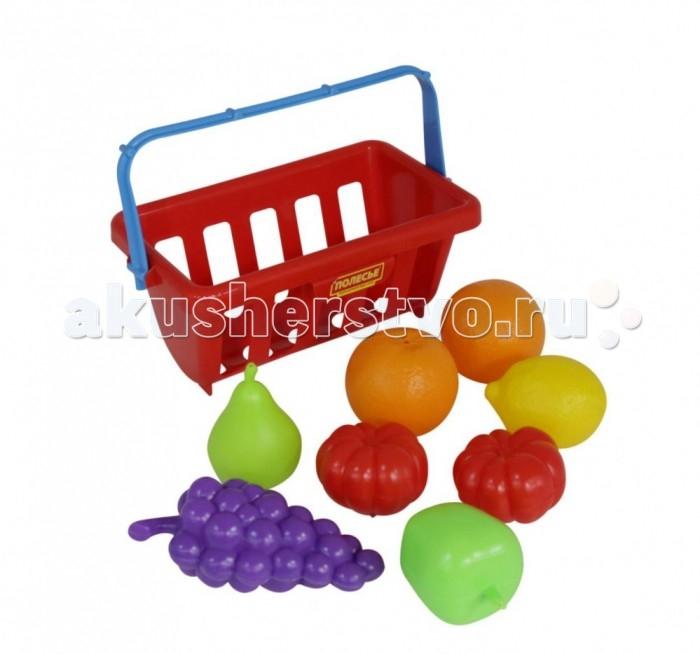Полесье Набор продуктов с корзинкой №2 kidkraft кукольный стульчик для кормления куклы kidkraft