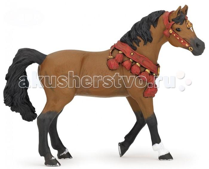 Papo Игровая реалистичная фигурка Арабская лошадь в парадной упряжкеИгровая реалистичная фигурка Арабская лошадь в парадной упряжкеPapo Игровая реалистичная фигурка Арабская лошадь в парадной упряжке  Особенности: Ручная роспись.  Все фигурки Papo проходят тщательную подготовку и обработку, поэтому они крепкие и долговечные. Материал: высококачественный полимерный материал.  Размеры: 5х11х14.5 см<br>