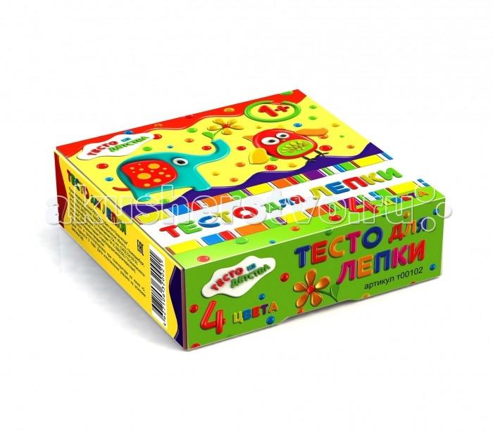Тесто из детства Набор для детского творчества Тесто для лепки 4 цвета