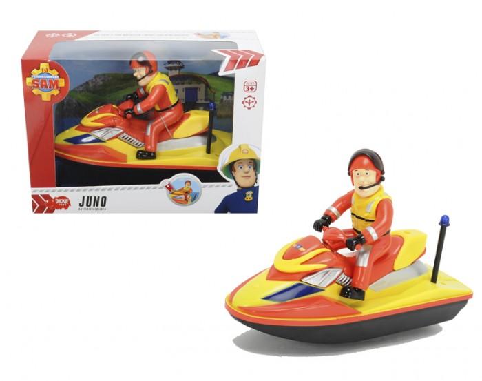 Dickie Пожарный Сэм Водный скутерПожарный Сэм Водный скутерDickie Пожарный Сэм Водный скутер, обязательно понравится вашему малышу и займет его внимание надолго.  Особенности:  Гидроцикл из мультфильма Пожарный Сэм работает на батарейках 1 х АА, входит в комплект.  Все модели выполнены крайне детально и аккуратно, в ярких насыщенных цветах, тщательно проработан каждый элемент.  Изделия изготовлены из прочного и высококачественного пластика и прослужат вашему ребенку очень долго.<br>