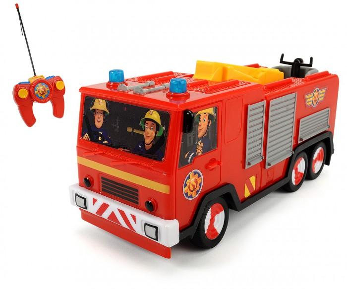 Dickie Пожарный Сэм Пожарная машинаПожарный Сэм Пожарная машинаDickie Пожарный Сэм Пожарная машина на пульте радиоуправления.   Особенности:  Автомобиль управляется во все стороны.  Есть режим ускорения и включения мигалки. Длина автомобиля 22 см. Масштаб 1:24. Для работы требуются батарейки 3x 1.5V LR03 (АА) и 3x 1.5V LR6 (ААА).  Частоты: 27,045 МГц. Максимальный коэффициент усиления антенны: 3 дБ. Мощность: не более 10 мВт. Разнос каналов: 50 кГц  Все модели выполнены крайне детально и аккуратно, в ярких насыщенных цветах, тщательно проработан каждый элемент.<br>