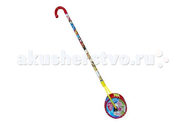 Каталка-игрушка G.B.Fabricantes AVC с ручкой Три поросенка