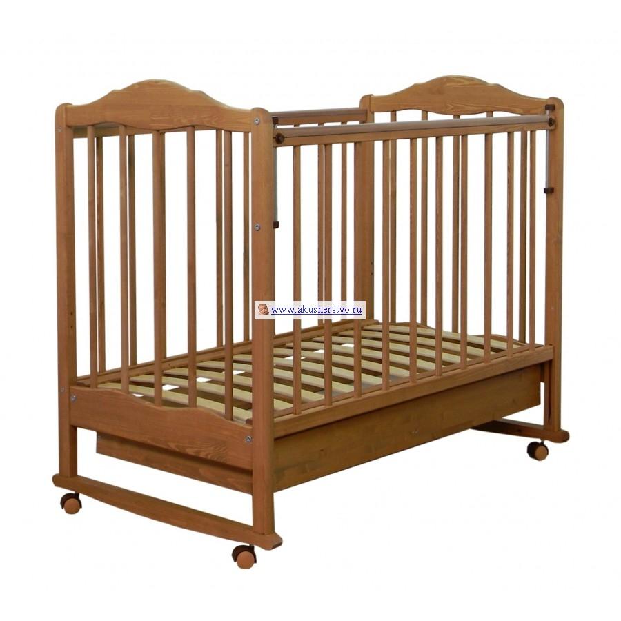 Детская кроватка СКВ Компани СКВ-2 Митенька 23111 качалка с ящиком