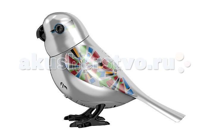 Интерактивная игрушка Digibirds Серебряная птичка с кольцом