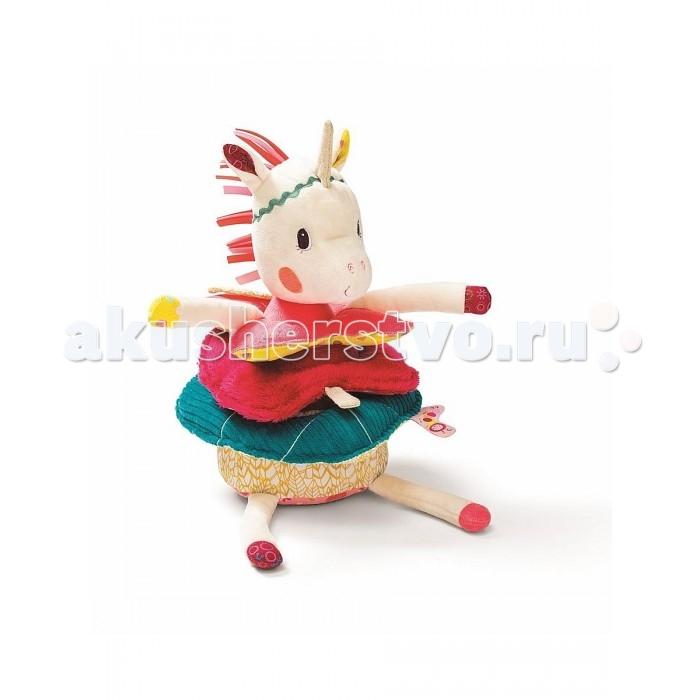 Мягкая игрушка Lilliputiens Единорожка Луиза игрушка-пирамида