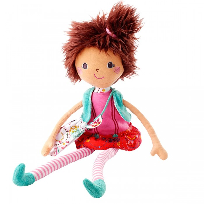 Lilliputiens Мона: цирковая кукла, большаяМона: цирковая кукла, большаяLilliputiens Мона: цирковая кукла, большая.  У нее длинные гибкие ручки и полосатые ножки в бирюзовых ботиночках. Ее смешную стильную прическу так забавно тормошить, взъерошивая волосы еще больше. Она любит менять наряды и носить при себе маленькую сумочку с лемуром Джорджем. Ты большая модница, и тебе давно не хватало подружки-единомышленницы. Теперь она у тебя есть. И ее имя – Мона - ты выговариваешь легко, хотя тебе пока поддаются далеко не все слова.  Мягкая игрушка Mона- цирковая кукла от Lilliputiens сразу стала твоей лучшей подружкой. Она очень гибкая и мягкая, может присесть, скрестив ножки или развести ручки в стороны, исполнить любой цирковой трюк, если ты ей поможешь. Раньше Мона работала в цирке, пока не узнала, что ее ждет такая веселая маленькая девочка, как ты. И она пришла, чтобы дружить с тобой, выслушивать твои секреты и развивать твои навыки мелкой моторики, воображения и сюжетно-ролевых игр.  Вам, в общем, и вдвоем не скучно! Но иногда к тебе гости приходит подруга со своей цирковой куклой Ольгой от Lilliputiens – сестричкой Моны, и вы вместе устраиваете целое представление для мам. Спать Мона любит в своей фирменной коробке от Lilliputiens, в которой и приехала к тебе. Но иногда ты еще не разобралась, как это получается, ты просыпаешься, а она уже сидит у тебя в кроватке и зовет играть!<br>