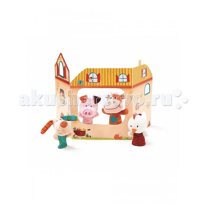 Мягкая игрушка Lilliputiens Пальчиковые игрушки: фермаПальчиковые игрушки: фермаLilliputiens Пальчиковые игрушки: ферма. Очаровательные жители игрушечной фермы станут лучшими друзьями малыша в возрасте от шести месяцев. Забавная курочка Оливия, уточка Ники, чудесная коровушка Вики, а так же кролик, овечка, свинка и фермер – человечек с трактором, не дадут соскучиться. С такой компанией можно придумать множество интересных игр и занятий!<br>