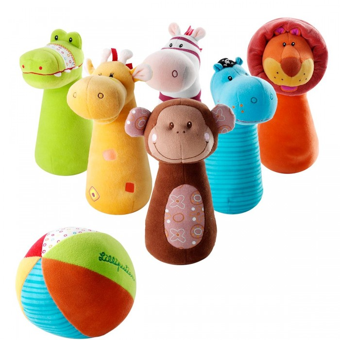 Мягкая игрушка Lilliputiens Набор мягких игрушек Боулинг