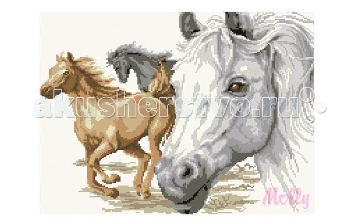 Molly Мозаичная картина Портрет лошади 40х50 смМозаичная картина Портрет лошади 40х50 смМозаичная картина Molly Портрет лошади 40 х 50 см - оригинальный набор, позволяющий создать первую картину, благодаря поэтапной выкладке мозаикой полотна.    В наборе:    Тканевый холст с клеевым слоем и с нанесенной схемой рисунка  Металлический пинцет  Пластиковый контейнер для элементов мозаики  Специальный карандаш  Клей-липучка для карандаша  Комплект разноцветных мозаичных элементов диаметром 2.5 мм  Размер: 40 х 50 см Количество цветов: 16 Уровень сложности: трудный  Мозаичные картины – это: вид творчества и увлекательное времяпровождение, которое позволяет без специальной подготовки любому желающему создать яркую, переливающуюся всеми цветами радуги картину. не что иное, как эскиз будущего рисунка, контур, нанесенный на холст. Рисунок разбит на маркированные сегменты, обозначенные буквой или цифрой. Каждой цифре или букве соответствует определенный цвет мозаики.  Благодаря качественной шлифовке мозаичных элементов любая готовая картина выглядит просто потрясающе. Специальный пинцет в наборе и клеевая основа холста позволяет удобно, без использования дополнительных инструментов распределять мозаичные элементы на холсте.  Картины мозаикой красиво сверкают при любом освещении. Готовая картина, помещенная в раму, - это отличный выбор и красивое интерьерное украшение.<br>