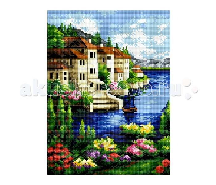 Molly Мозаичная картина Приморский городок 40х50 см