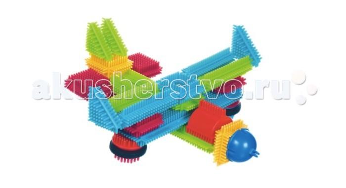 Конструктор Bristle Blocks игольчатый в чемоданчике 50 деталейигольчатый в чемоданчике 50 деталейBristle Blocks Конструктор игольчатый в чемоданчике 50 дет.  Конструктор игольчатый в чемодане 50 дет арт 68164 Bristle Blocks - все элементы конструктора 50 дет имеют игольчатые стороны, что позволяет легко и прочно соединять элементы между собой в любой плоскости. Конструктор упакован в чемодан.  Особенности: Точечный массаж маленьких ручек и пальчиков — игольчатые детальки массируют всю ручку ребенка как бы он не захватывал деталь Легкий в использовании — детальки плотно соединяются и разъединяются между собой, благодаря иголочкам детали конструктора можно соединять друг с другом практически в любых плоскостях Безопасный для малыша – все детальки изготовлены из первичного пластика и не имеют резкого запаха Красочный – у деталек насыщенные, но мягкие цвета, которые благоприятно влияют на психику ребенка Можно собирать целые серии благодаря разнообразию ассортимента, а также есть вращающиеся детальки.<br>