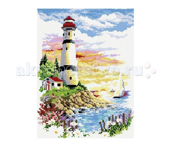 Molly Мозаичная картина Маяк на рассвете 40х50 см