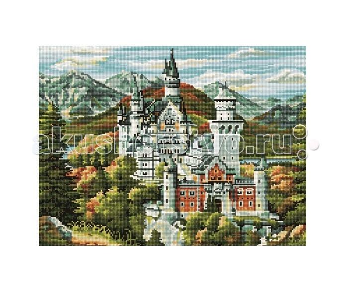 Molly Мозаичная картина Старинный замок в горах 40х50 см