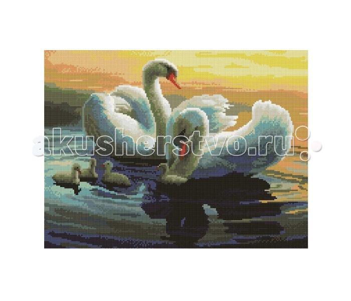 Molly Мозаичная картина Лебединая идиллия 40х50 см
