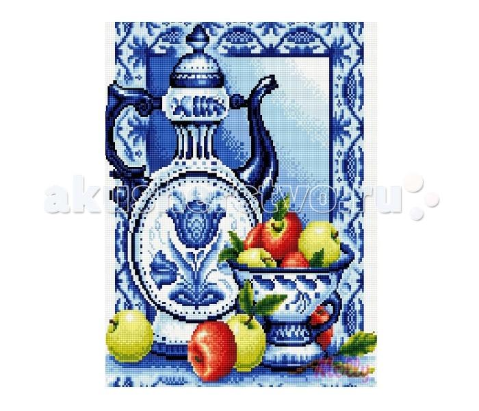 Molly Мозаичная картина Чайник в стиле гжель 40х50 см