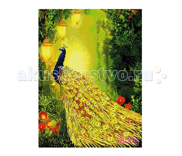Molly Мозаичная картина Павлин 40х50 смМозаичная картина Павлин 40х50 смМозаичная картина Molly Павлин 40 х 50 см - оригинальный набор, позволяющий создать первую картину, благодаря поэтапной выкладке мозаикой полотна.    В наборе:    Тканевый холст с клеевым слоем и с нанесенной схемой рисунка  Металлический пинцет  Пластиковый контейнер для элементов мозаики  Специальный карандаш  Клей-липучка для карандаша  Комплект разноцветных мозаичных элементов диаметром 2.5 мм  Размер: 40 х 50 см Количество цветов: 34 Уровень сложности: сложный  Мозаичные картины – это: вид творчества и увлекательное времяпровождение, которое позволяет без специальной подготовки любому желающему создать яркую, переливающуюся всеми цветами радуги картину. не что иное, как эскиз будущего рисунка, контур, нанесенный на холст. Рисунок разбит на маркированные сегменты, обозначенные буквой или цифрой. Каждой цифре или букве соответствует определенный цвет мозаики.  Благодаря качественной шлифовке мозаичных элементов любая готовая картина выглядит просто потрясающе. Специальный пинцет в наборе и клеевая основа холста позволяет удобно, без использования дополнительных инструментов распределять мозаичные элементы на холсте.  Картины мозаикой красиво сверкают при любом освещении. Готовая картина, помещенная в раму, - это отличный выбор и красивое интерьерное украшение.<br>