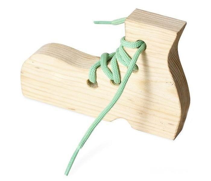 Деревянная игрушка Бэмби шнуровка Ботинок