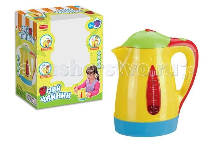 Zhorya Чайник на батарейкахЧайник на батарейкахZhorya Чайник на батарейках позволит девочке почувствовать себя настоящей хозяйкой. Любая малышка любит повторять все за мамой. Но мама никогда не подпустит маленького ребенка к настоящему чайнику, ведь можно обжечься.   Теперь в хозяйстве девочки может появиться свой абсолютно безопасный прибор, который очень похож на настоящий.   Чайник работает от батареек, а процесс работы сопровождается световыми и звуковыми эффектами.<br>