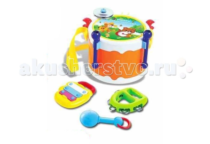 Музыкальная игрушка Zhorya Набор музыкальных инструментов 4 шт.