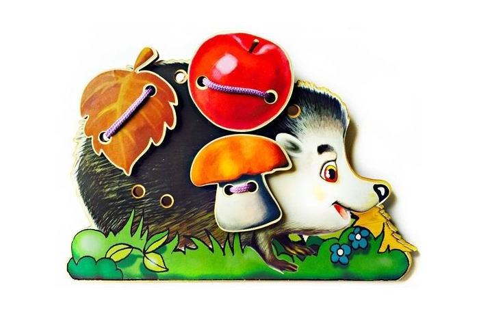 Деревянная игрушка Бэмби шнуровка Ёжик